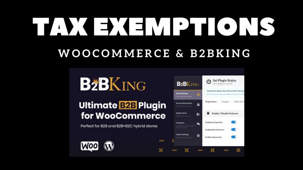 woocommerce tax exemptions