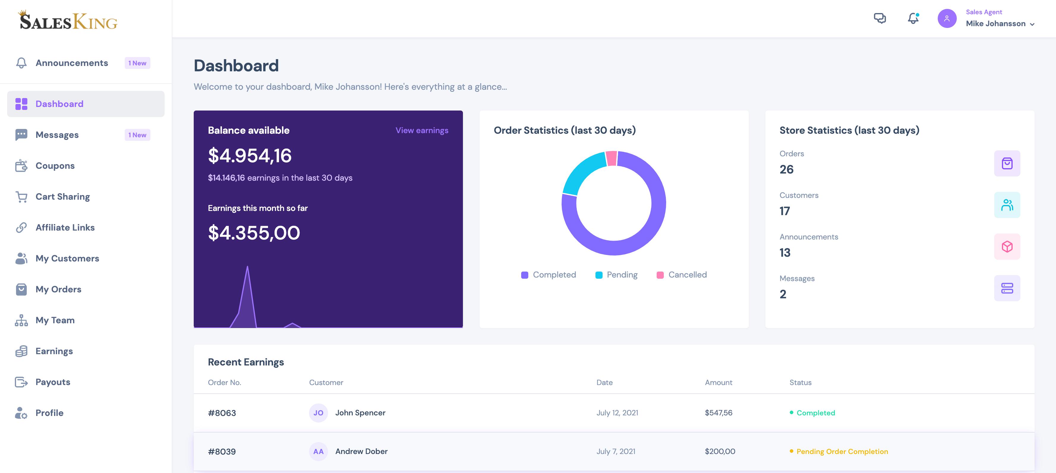 SalesKing - Ultimate Sales Team, Agents & Reps Plugin for WooCommerce - 3