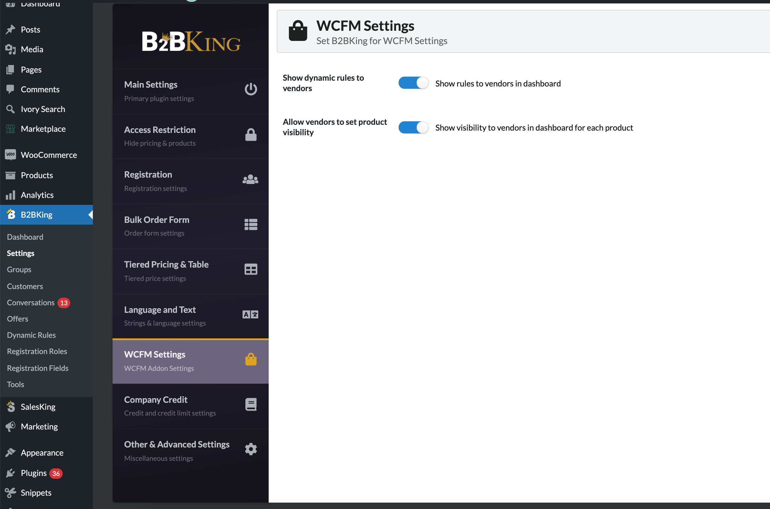 B2BKing: B2B and Wholesale for WCFM MultiVendor Marketplace (Add-on) - 17